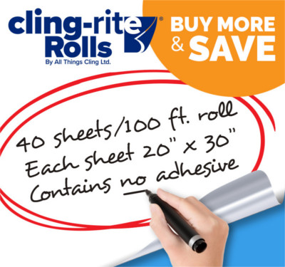 Buy 7 Cling-rite Rolls, Get 1 FREE